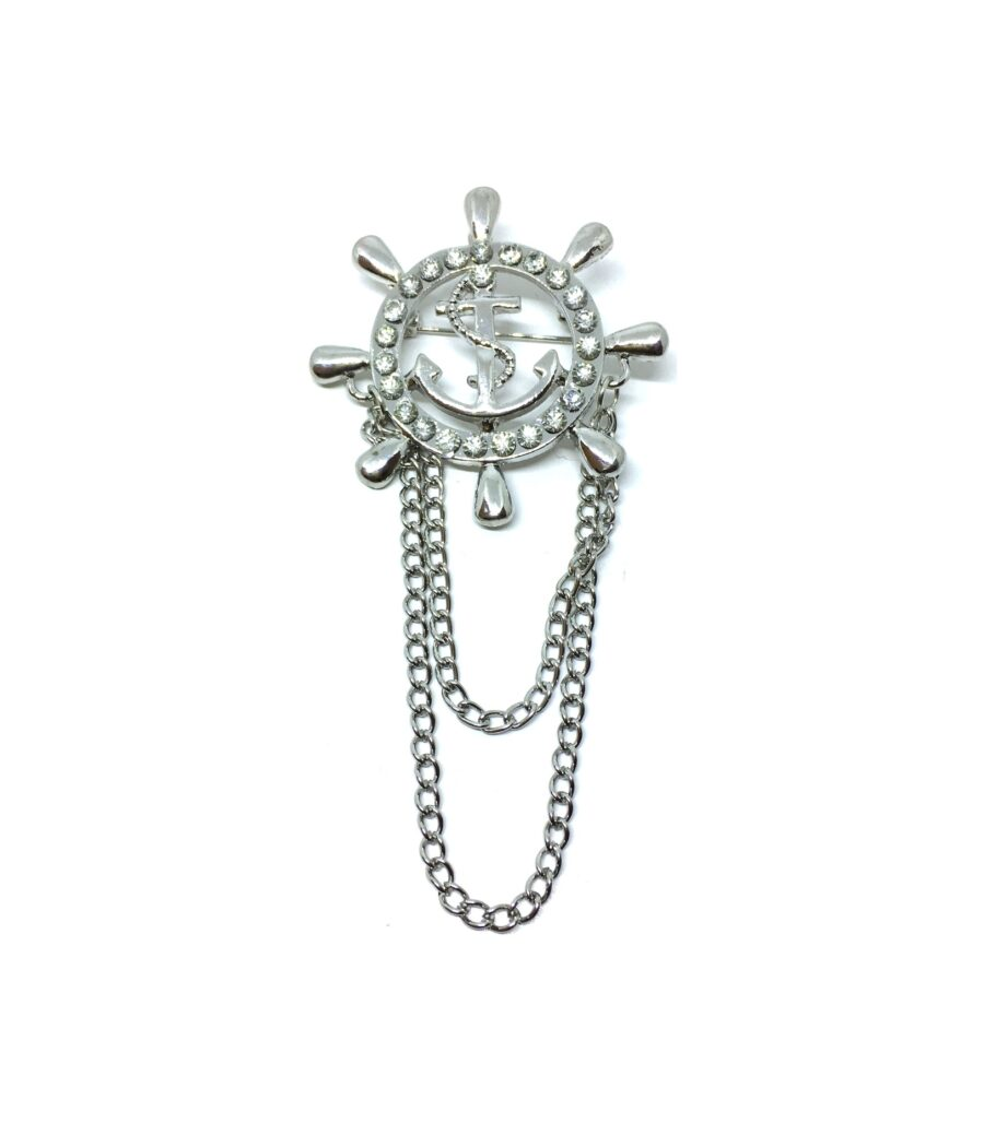 Chain Anchor Lapel Pin
