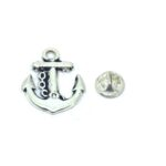 Silver plated Anchor Lapel Pin