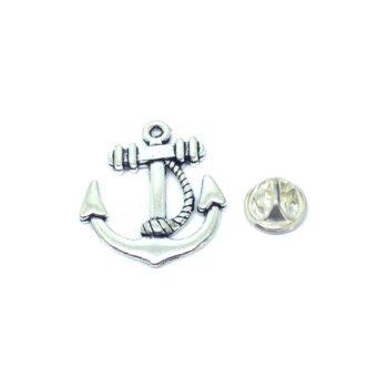 Silver tone Anchor Lapel Pin