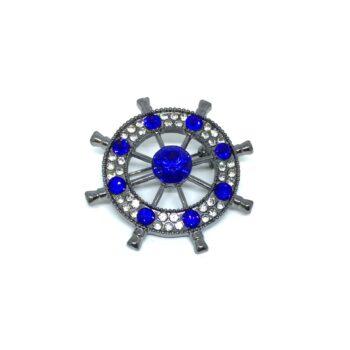 Blue Crystal Nautical Pin