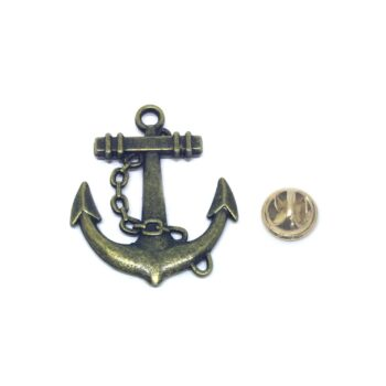 Bronze Anchor Lapel Pin