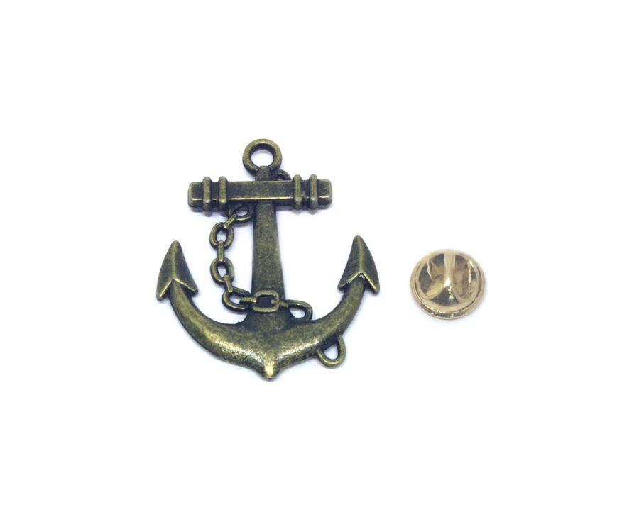 Bronze Anchor Lapel Pin