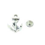 Silver tone Anchor Pin