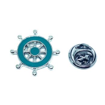 Blue Enamel Nautical Anchor Lapel Pin