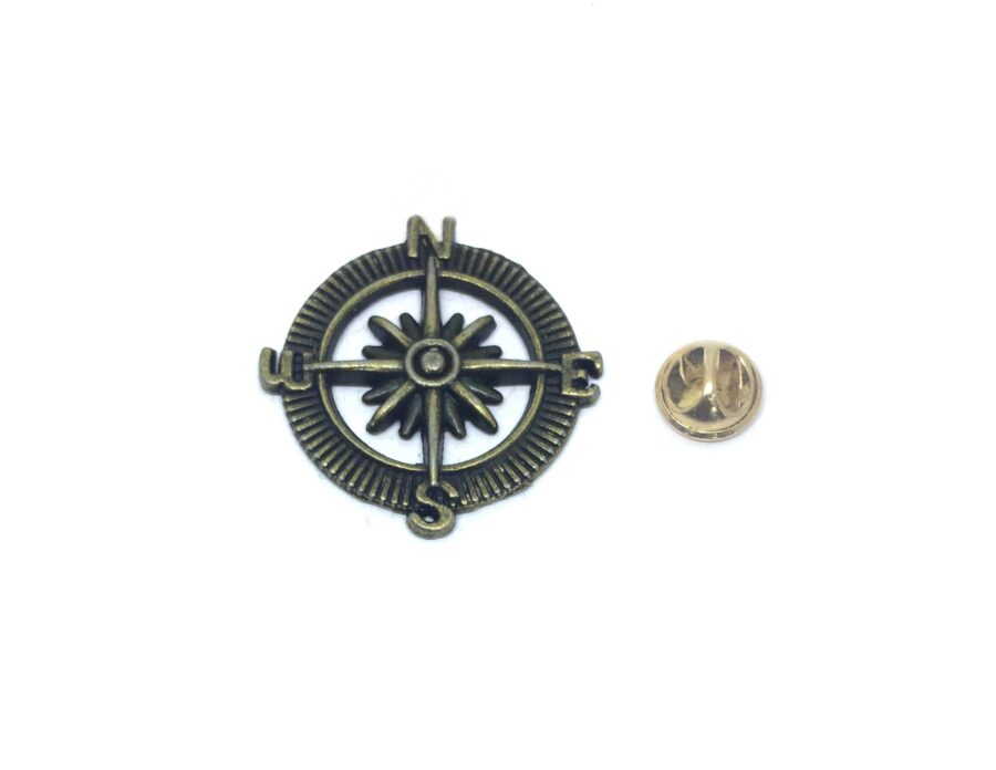 Bronze Nautical Anchor Lapel Pin