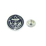 Oxidize Anchor Lapel Pin