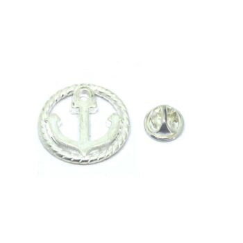Round charm Anchor Lapel Pin