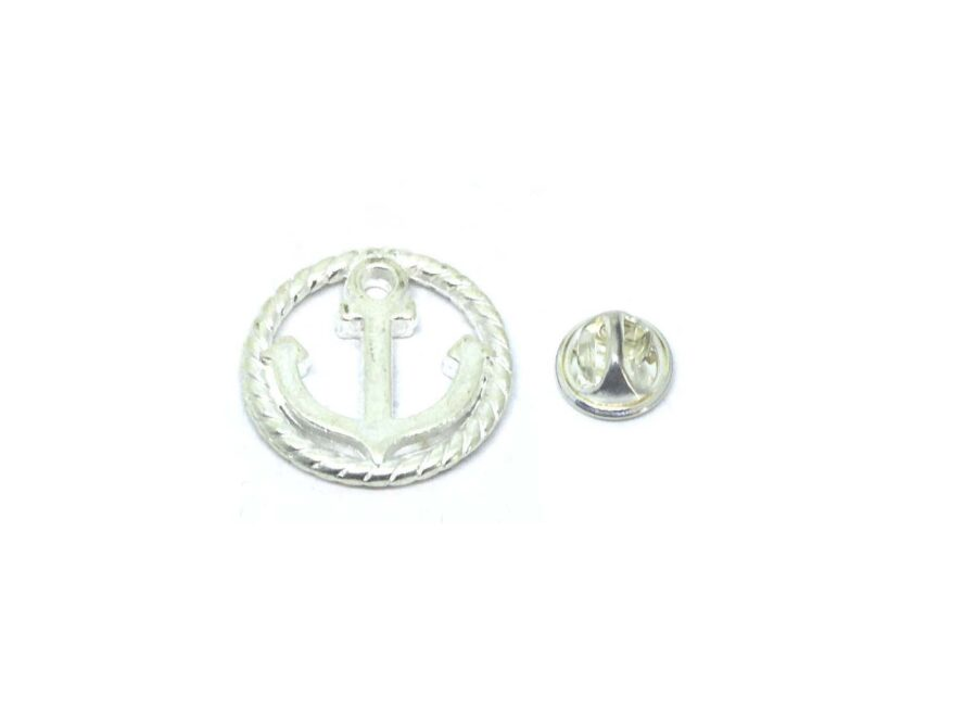 Round charm Anchor Lapel Pin