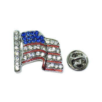 Crystal American Flag Pin