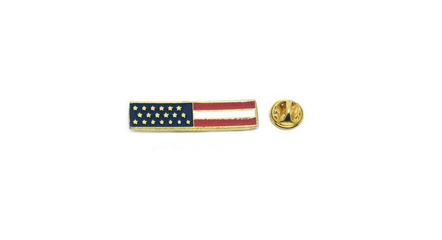 Square American Flag Lapel Pin