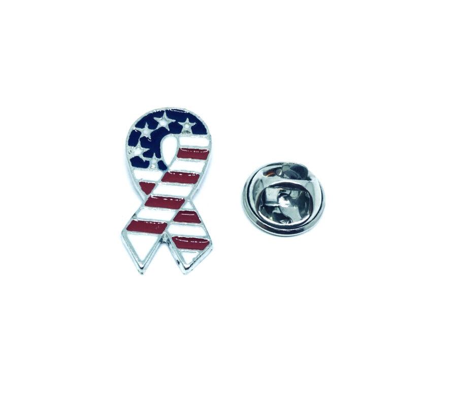 Awareness American Flag Lapel Pin