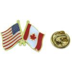 Canada & American Flag Lapel Pin