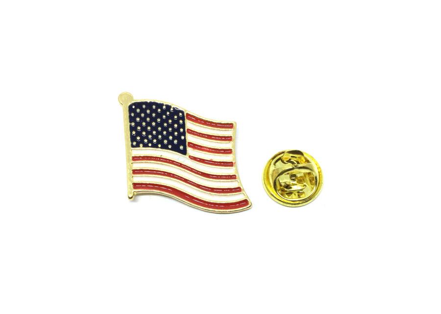 The USA Enamel American Flag Pin
