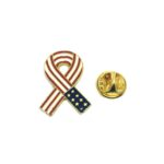 Gold plated Awareness American Flag Lapel Pin