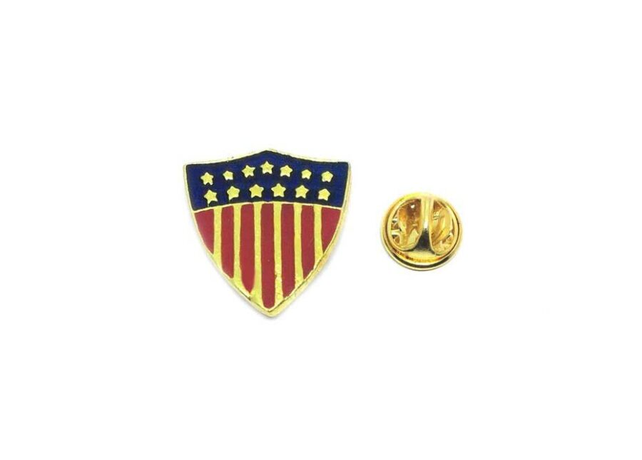 Shield American Flag Lapel Pin
