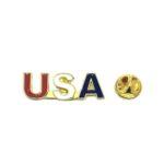 """USA"" American Flag Lapel Pin"