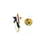 Star American Flag Lapel Pin