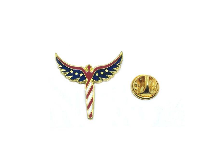 Angel American Flag Lapel Pin
