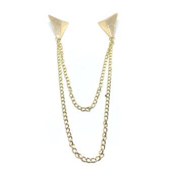 Chain Triangle charm Pin