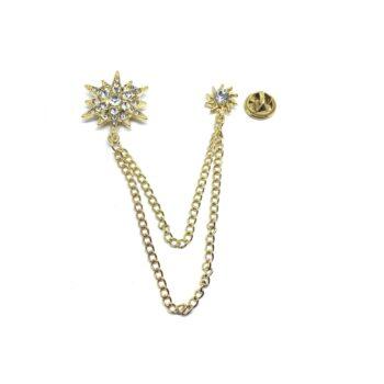 Chain Crystal charm Pin