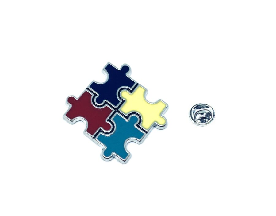 Silver plated Enamel Autism Lapel Pin