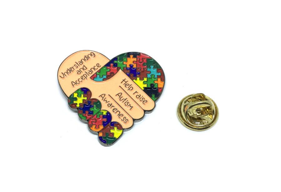 Enamel Autism Lapel Pin
