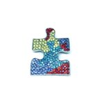 Multi-color Crystal Autism Pin
