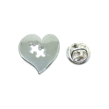 Silver plated Autism Lapel Pin