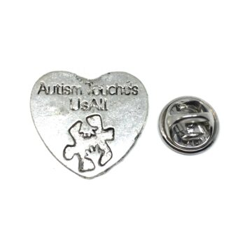 Silver tone Autism Pin