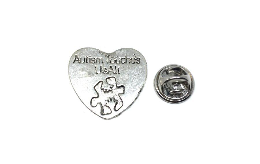 Silver tone Autism Pin