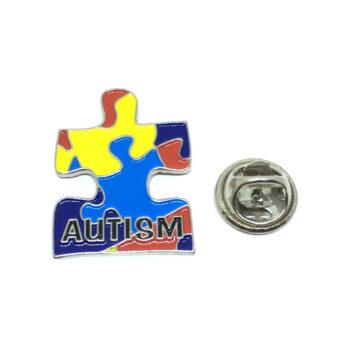 Multi-color Enamel Autism Lapel Pin