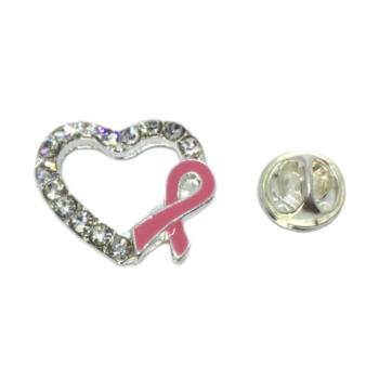 Crystal Heart Awareness Lapel Pin