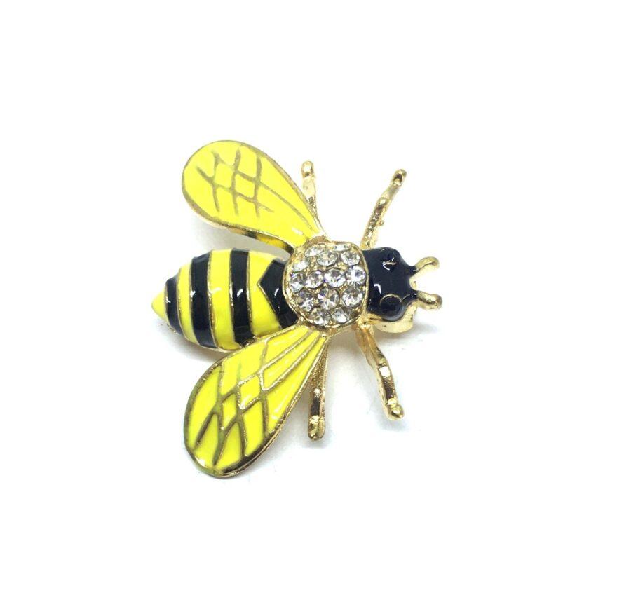 Enamel Bee Brooch Pin