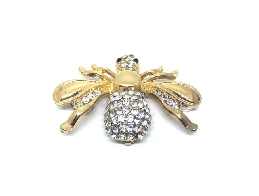 Crystal Bee Brooch Pin