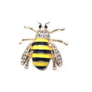 Enamel Gold plated Bee Brooch Pin