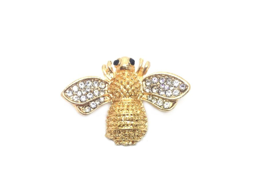 Gold tone Bee Brooch Pin