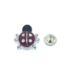 Silver plated Bee Enamel Lapel Pin