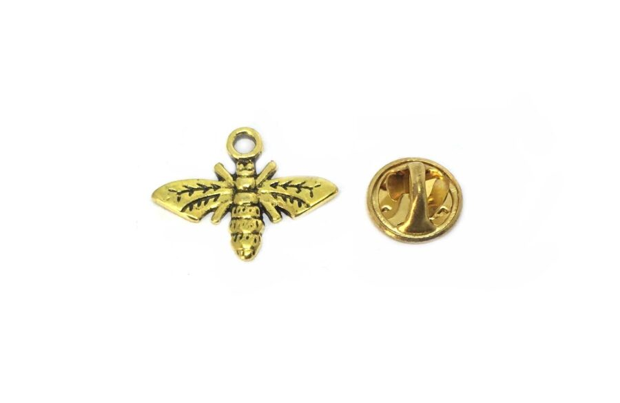 Gold Plated Bee Lapel Pins