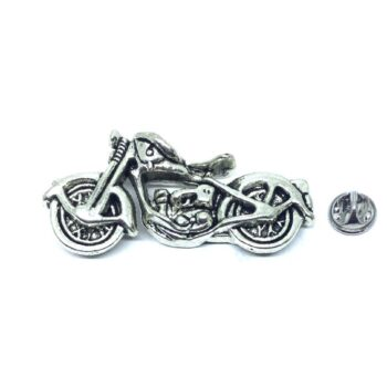 Silver plated Biker Lapel Pin