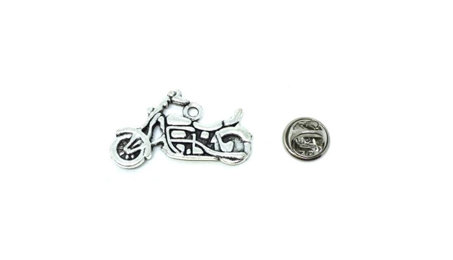 Silver tone Biker Lapel Pin