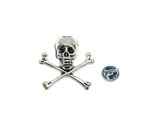 Skull Biker Lapel Pin