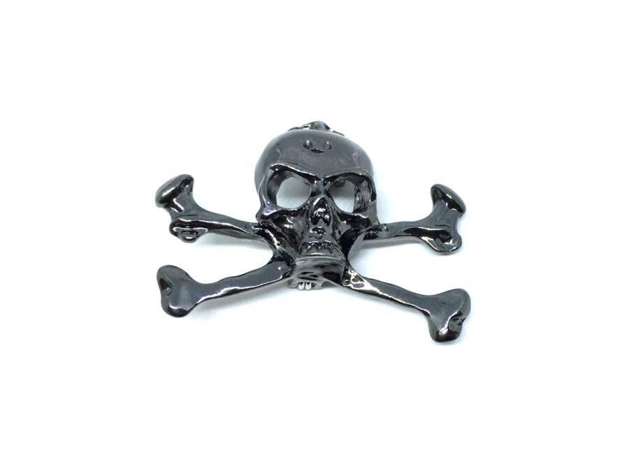 Antique Skull Biker Pin