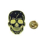 Enamel Skull Biker Lapel Pin
