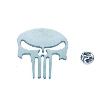 Silver plated Biker Lapel Pin