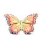 Crystal Enamel Butterfly Brooch