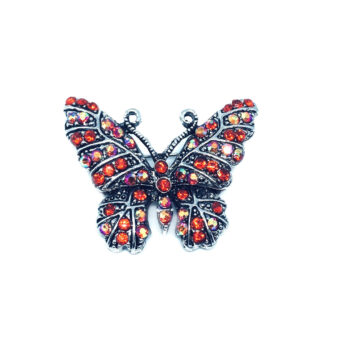 Red Crystal Butterfly Brooch