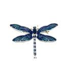 Blue Enamel Butterfly Brooch