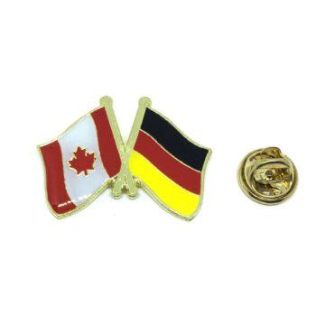 Germany & Canada Flag Lapel Pin