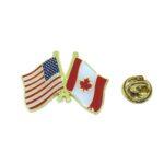 The USA & Canada Flag Lapel Pin