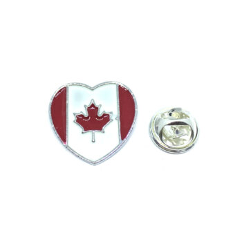 Silver plated Canada Flag Lapel Pin